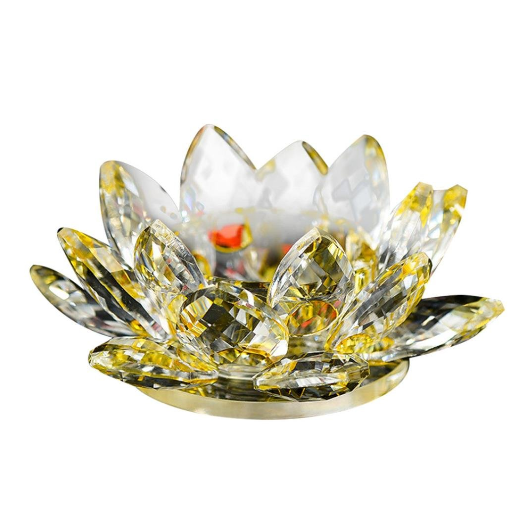 Amazon Lotus Crystal Lotus Flower Tea Light Candle Holder