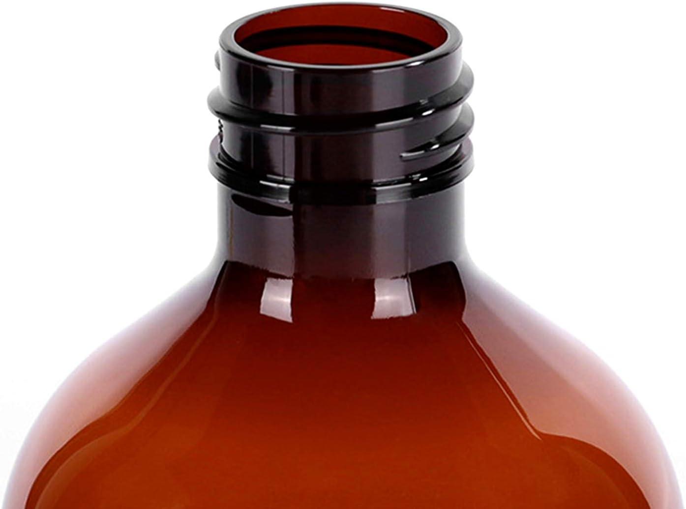 Bocotoer 500 ml Homes Bottiglia in vetro marrone vuota bottiglia spray in vetro marrone per piante parrucchieri confezione da 2