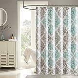 """Madison Park MP70-1465 Claire Shower Curtain, 72 x 72"""", Aqua"""