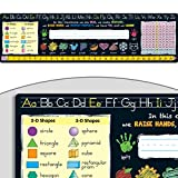 Chalkboard-Style Self-Adhesive Deluxe Plastic Desktop Helpers, Primary - Set of 24