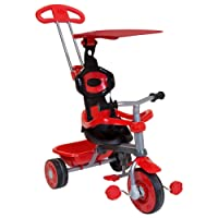 Trikestar Red Children's 4 In 1 Trike With Canopy & Safety Guard - Also Available In Pink, Blue and Multicoloured
