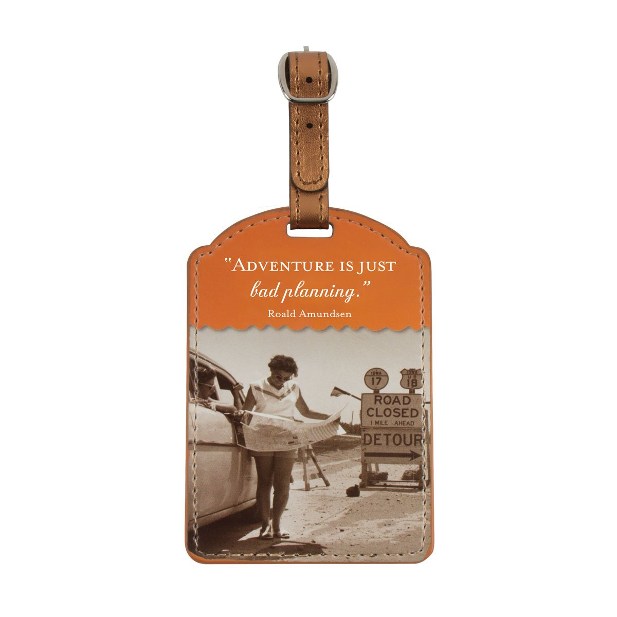 Shannon Martin Design Luggage Tag, Always Be Ready Shannon Martin Girl Designer SMLT22