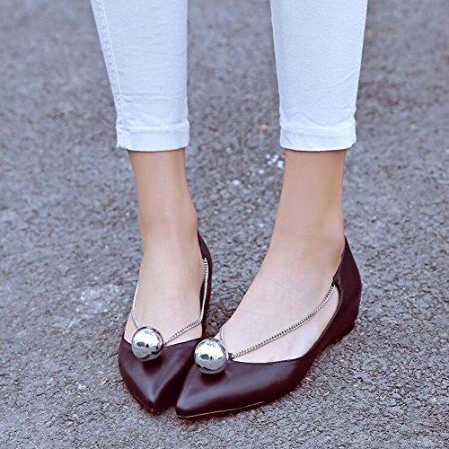 Zapatos Estrecha Las Elegante 39 Tamaño Tamaño Mujeres Bombas de 34 Zapatos Simple Negro 43 Transpirable de Blanco Punta Color Planos Negro Cómodo r8qgwE7r