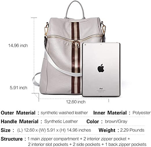 Amazon coupon code for Backpack Purse for Women Fashion Leather