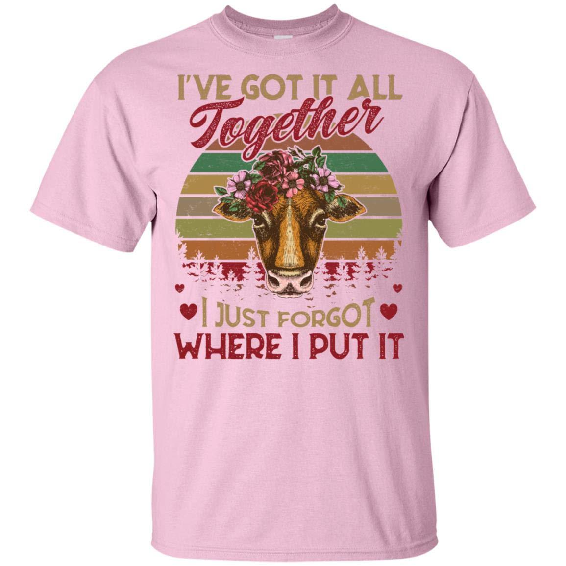 I Ve Got It All Together I Just Forgot Where I Put It Heifer Funny Vintage T Shirt