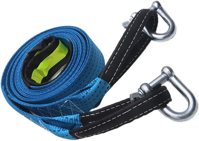 Shiwaki Sangle de Remorque en Cas durgence pour Voiture avec Crochets en U Bleu 8T 5M