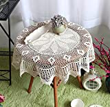 Hand-Crocheted Cotton Crochet Round Tablecloths Cover Towel Multi-Purpose 33.433.4In