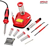 Apollo 30W All-In-One Soldering Iron Work Station with Built Helping Hands Alligator Clips & 9 Piece Mixed Accessory Set
