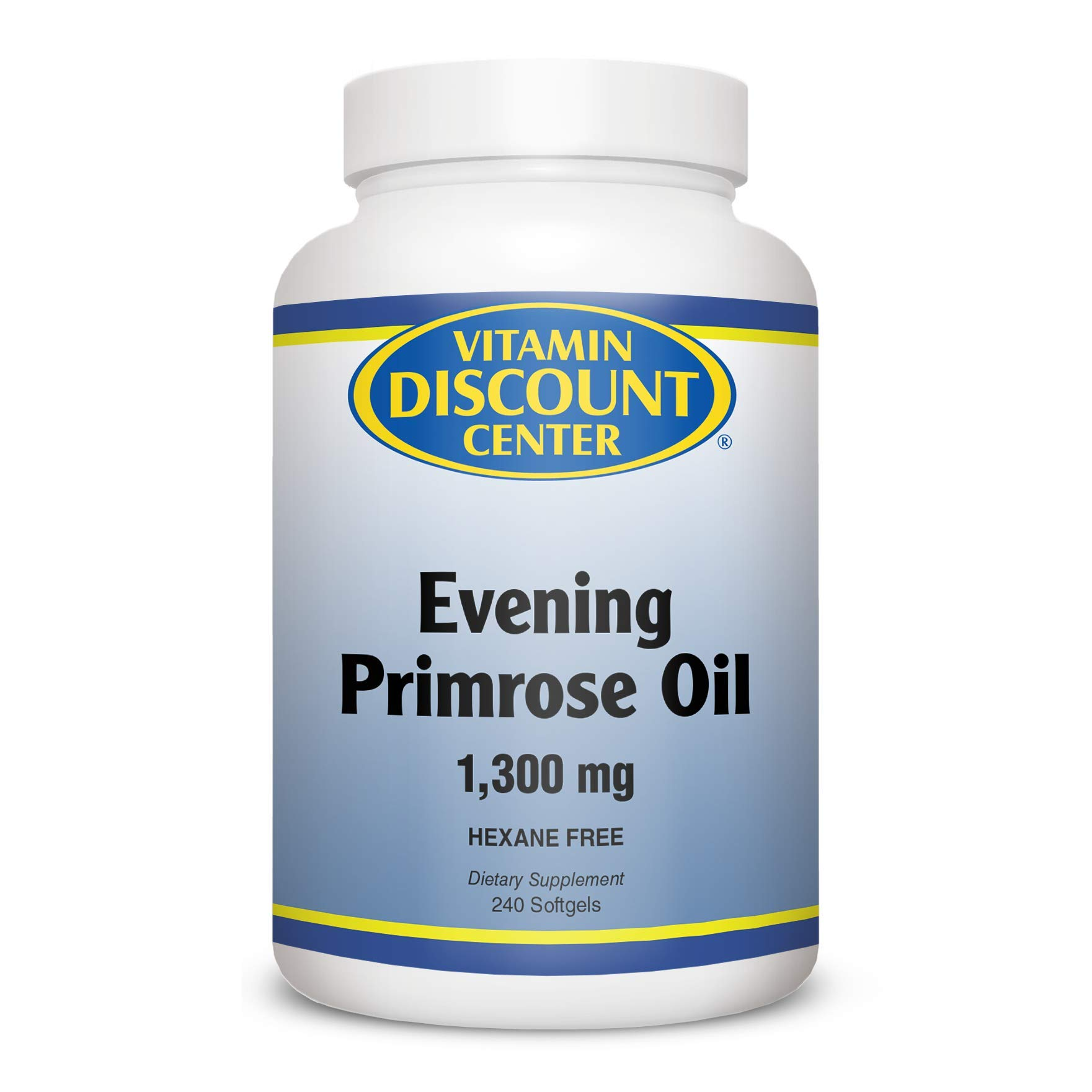 Vitamin Discount Center Evening Primrose Oil 1300mg, 240 Softgels