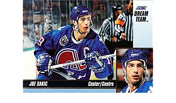 282a7a79311 Amazon.com  (CI) Joe Sakic Hockey Card 1993-94 Score Dream Team 14 Joe Sakic   Collectibles   Fine Art
