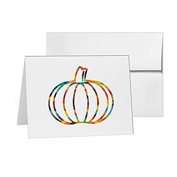 Pumpkin Vegetable Thanksgiving Squash Plant Blank Card Invitation Pack 15 Cards At 4x6