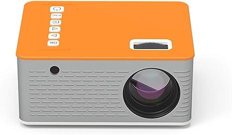 Opinión sobre KTDT UC28D Home Proyector LED con Pantalla de 1.8 Pulgadas Mini Mini Proyector portátil para teléfono móvil en el hogar, Naranja (Naranja-2)
