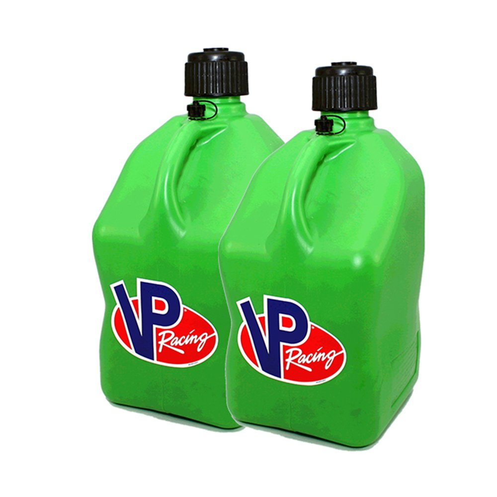 2 Pack VP 5 Gallon Square Green Racing Utility Jugs by VP Fuels