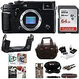 Fujifilm X-Pro2 Mirrorless Digital Camera with Fujifilm Leather Half Case & Corel Software Bundles (64GB Kit)
