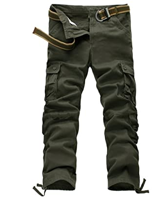 Ghope Herren Hosen Cargo Hose 8 Tasche Freizeithose Feldhose Baumwolle  Arbeitshose Kampfhose Rangerhose Straight Leg 66a3581f78