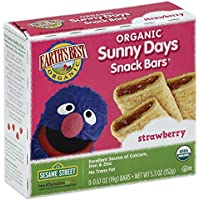 6 Pack Earth's Best Organic Sunny Days Snack Bars, Strawberry (8 Count)