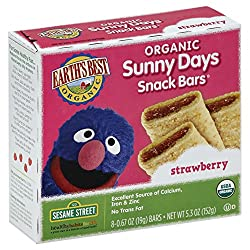 Earth's Best Organic Sunny Days Snack Bars, Strawberry, 8 Count Box (Pack of 6)