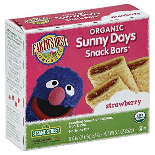 Earth's Best Organic Sunny Days Snack Bars, Strawberry, 8 Count (Pack of - Sunnies