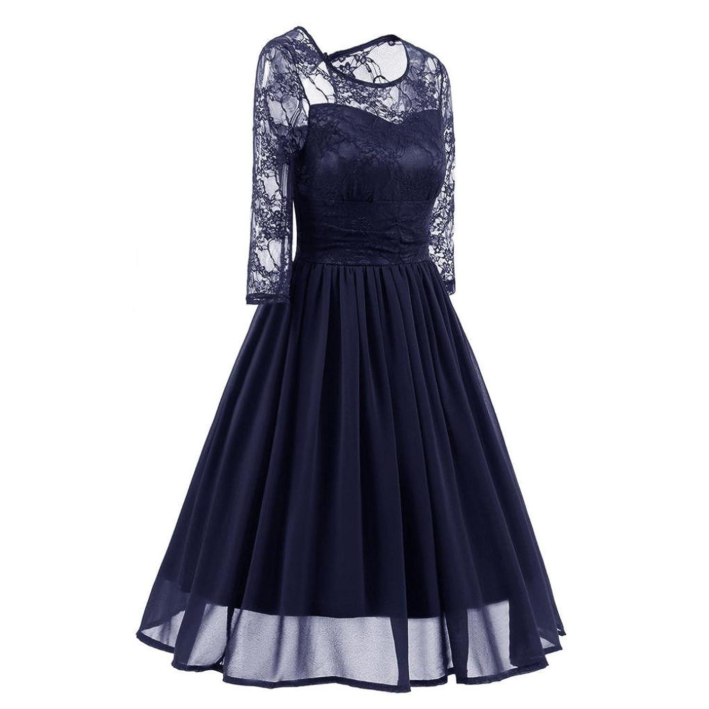 Amlaiworld Damen Blumen Vintage Abendkleid Elegant Hochzeit Kleider ...