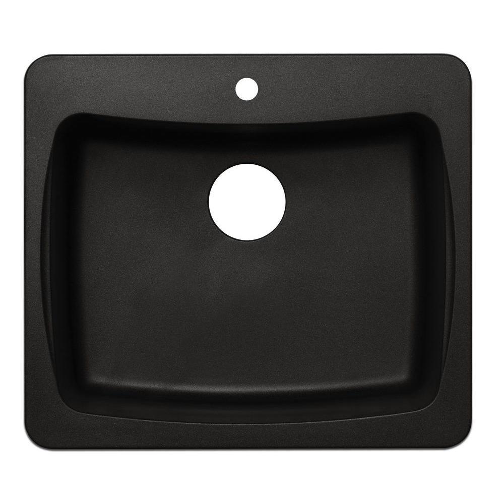Pegasus AL10MB 25-Inch by 22-Inch Granite Single Bowl Kitchen Sink ...