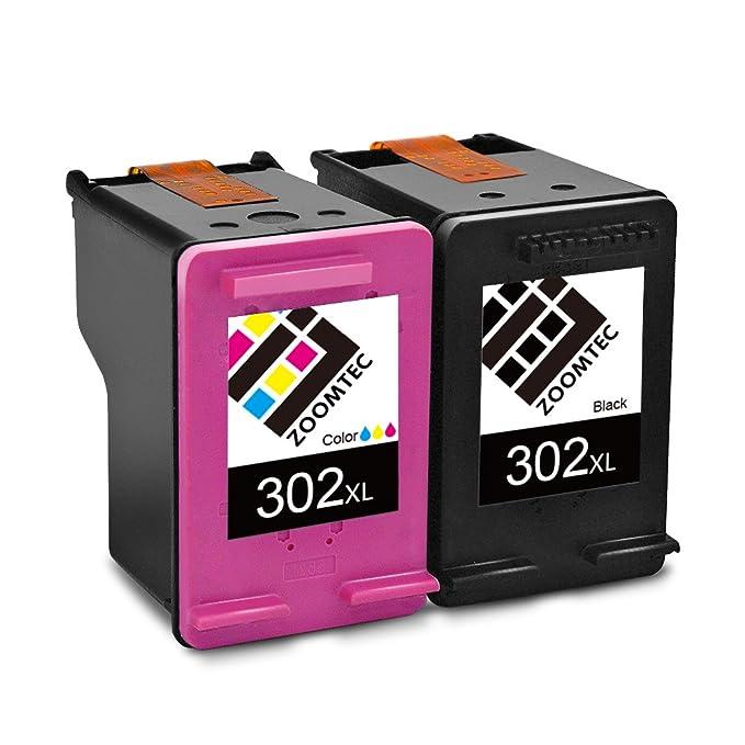 4 opinioni per ZOOMTEC Cartucce d'inchiostro HP 302XL rigenerate (1 nero, 1 tri-colore) ad alta