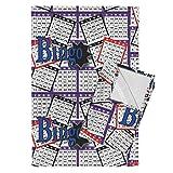 Roostery Bingo Tea Towels Bingo Cards by Dd Baz Set of 2 Linen Cotton Tea Towels