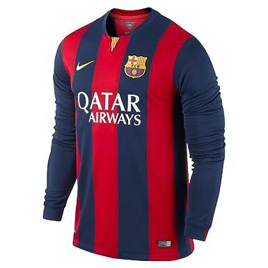 0e0f0dd12f6e Nike Football Jersey   2014 - 2015 FC Barcelona Long Sleeve Soccer Shirt  Stadium Version Men L M