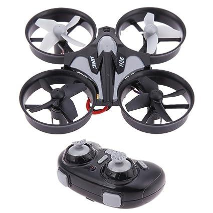 Prosperveil JJRC H36 Mini Drone Quadcopters sin Cabeza de un botón ...