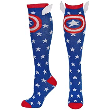 Marvel Captain America Star Knee High with Wings Calcetines: Amazon.es: Juguetes y juegos