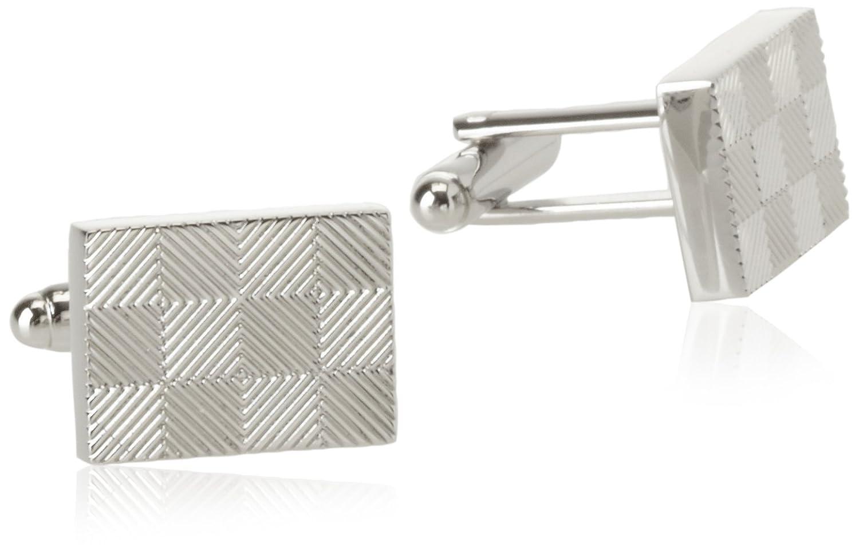 Geoffrey Beene Mens Checker Board Cufflinks