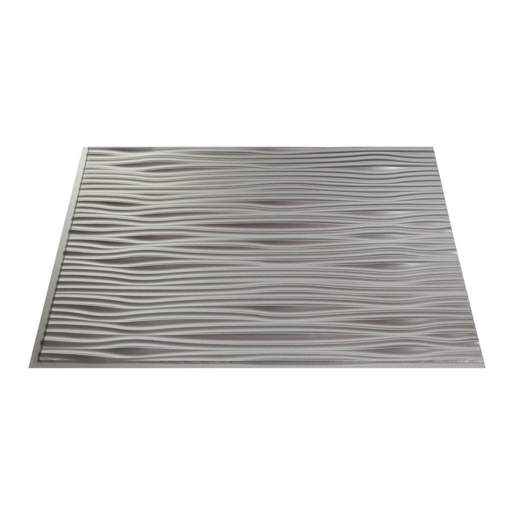 Fasade Easy Installation Waves Argent Silver Backsplash Panel for Kitchen and Bathrooms (18'' x 24'' Panel) by FASÄDE (Image #2)