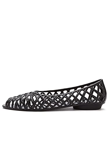 98ba78a3f052 American Apparel Women s Flat Lattice Jelly Sandal US Size 9 Black