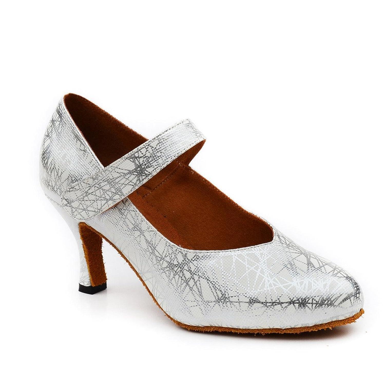 misu - Zapatillas de danza para mujer Plateado plata, color Plateado, talla 40 2/3