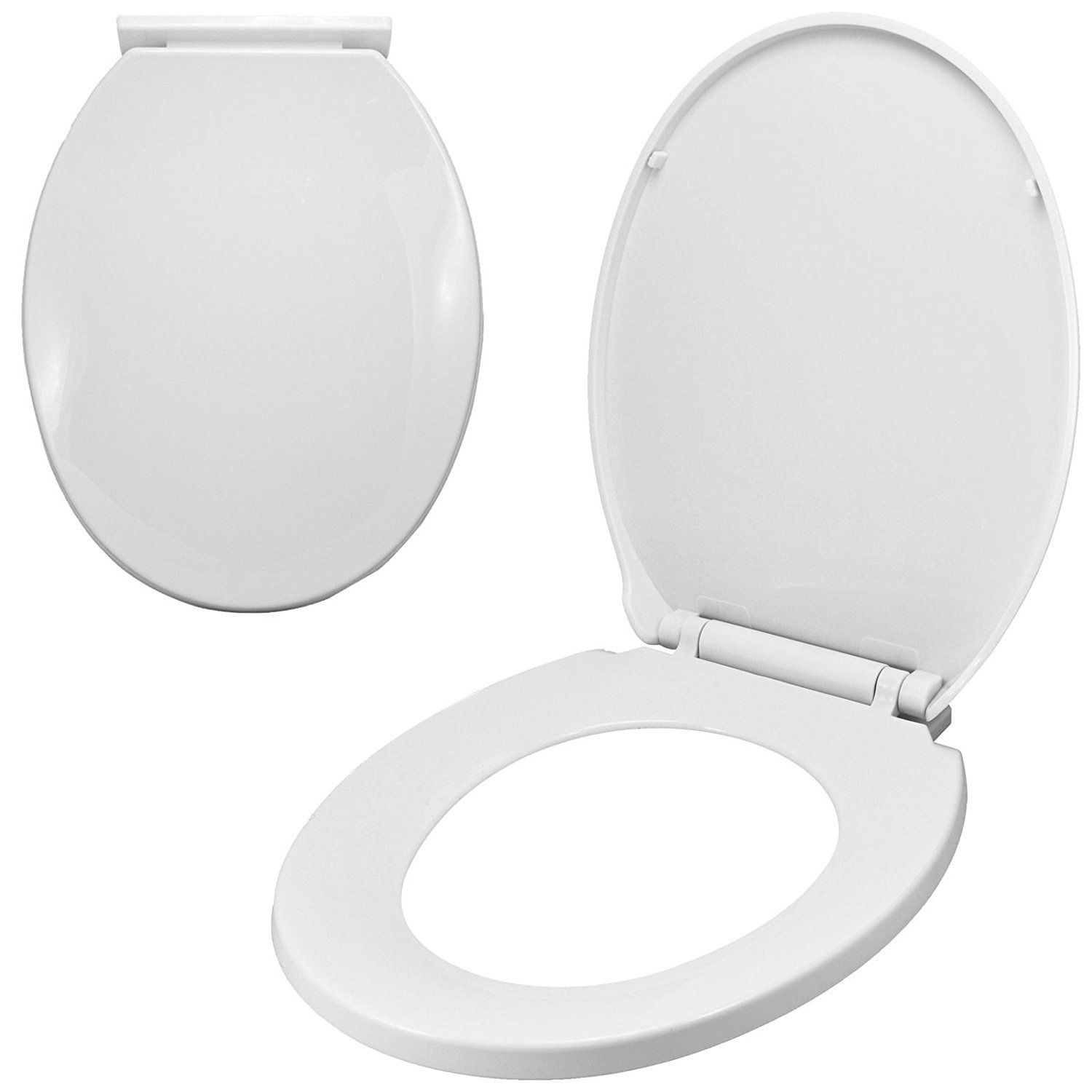 Groovy Luxury Comfort Oval Toilet Seat Heavy Duty Soft Close White Easy Installation Machost Co Dining Chair Design Ideas Machostcouk