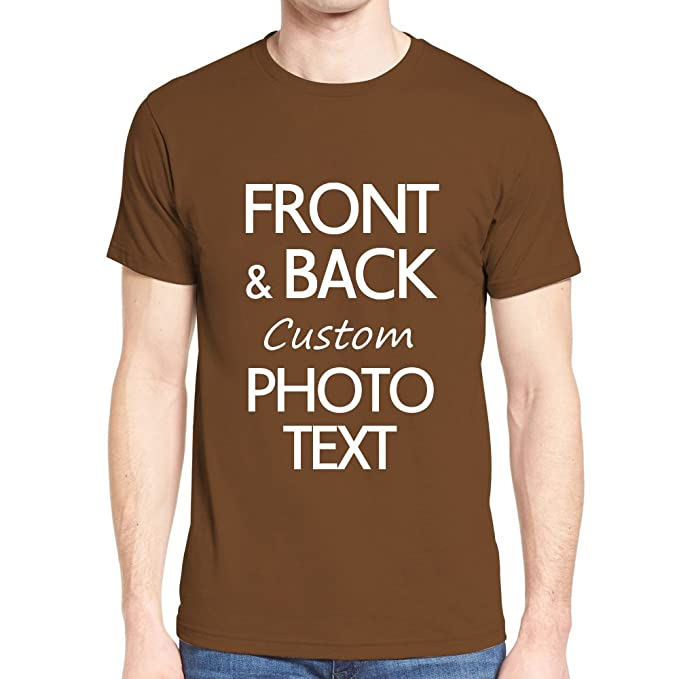 7504bbaa1 Amazon.com: Custom Personalized T-Shirt Design Your Own Print Text or Image  (Front & Back): Clothing