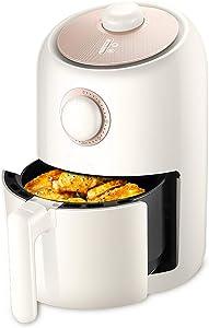 ZLJ 2L Air Fryer Air Fryer, Dual Temperature/Time Adjustment, Power Off Memory, Knob Operation, Digital Mini Air Fryer (Size: White)