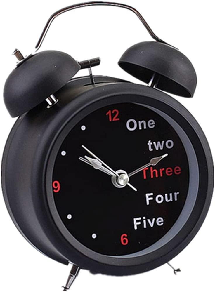 Ularma Número Classic/Inglés Retro reloj de mesa doble ...