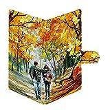 Shopmania Couple Painting Women's Canvas Wallet, Card, Passport Holder, Clutch, Purse