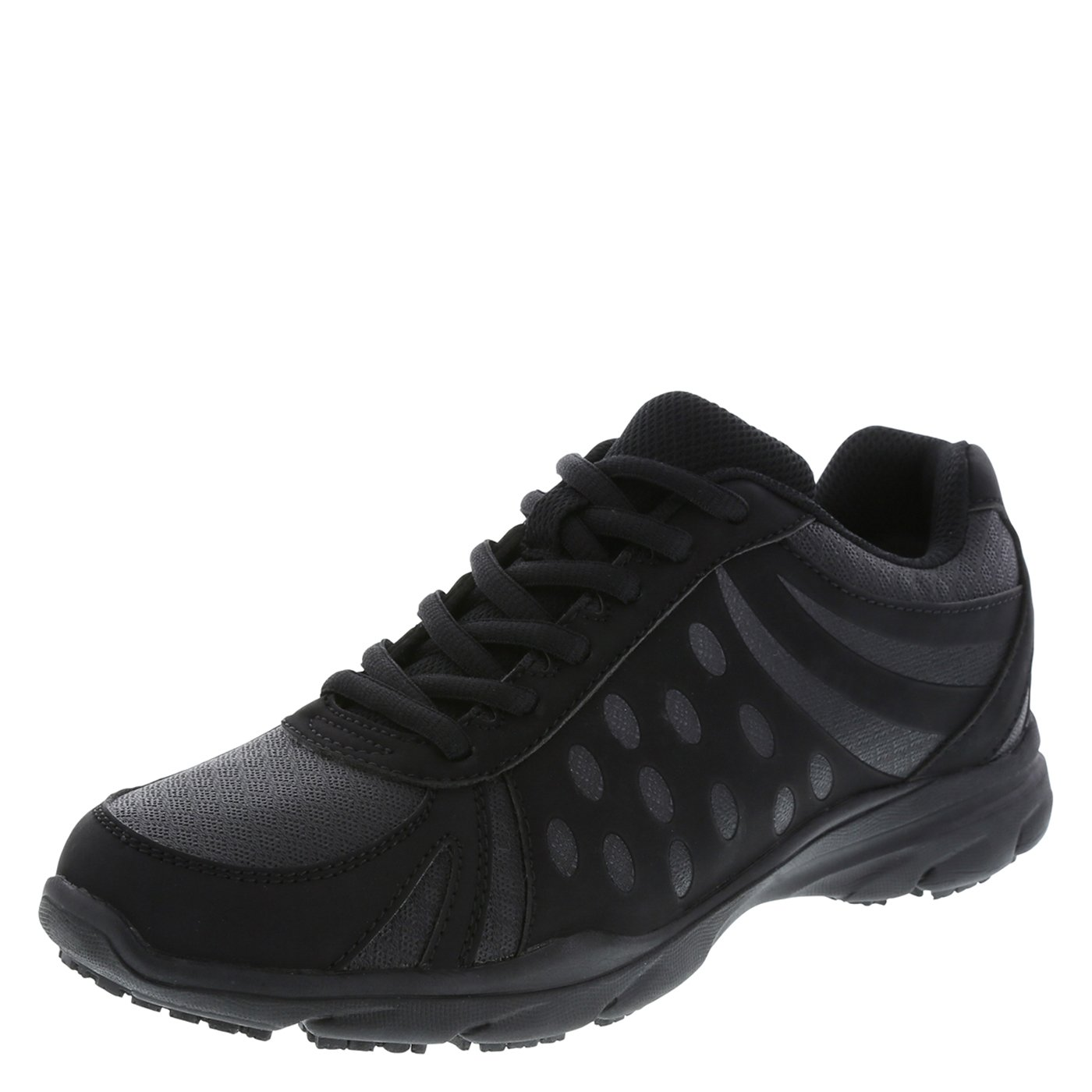 safeTstep Slip Resistant Women's Black Women's Camina Runner 7 Regular