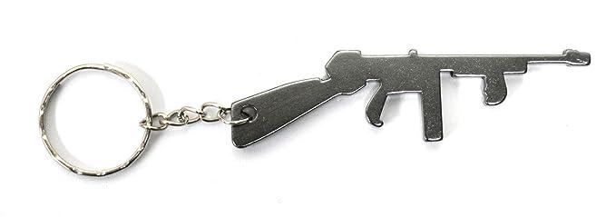 Komonee Tommy Pistola Llavero abridor de botella gris ...
