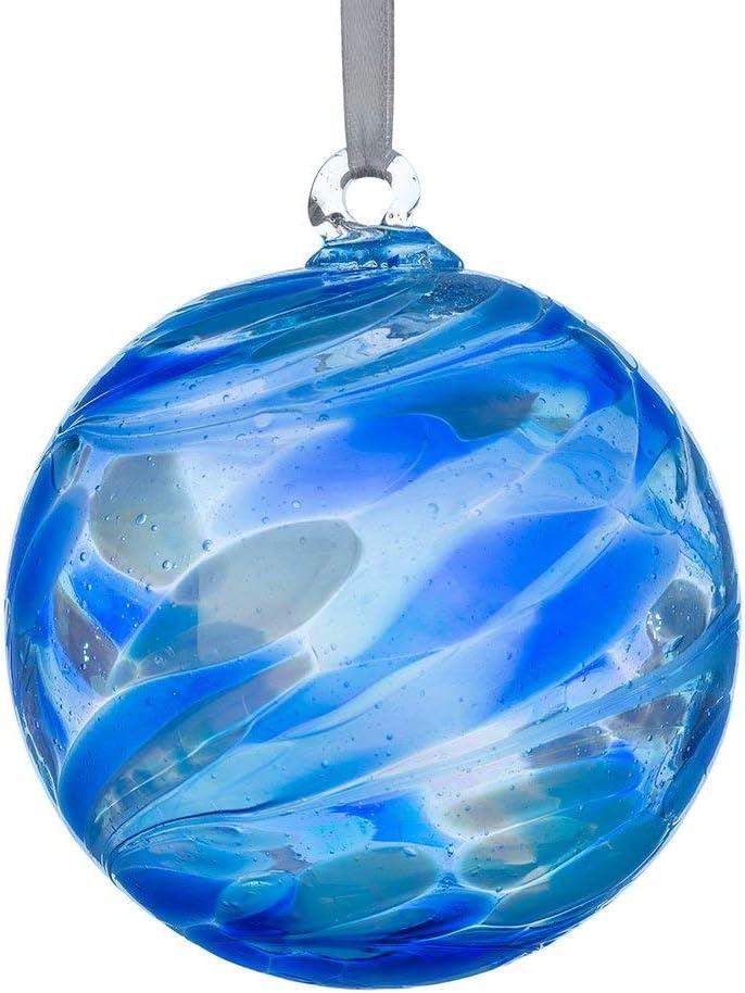 Amazon Com Sienna Glass September Birthstone Glass Friendship Ball Sapphire 11 X 11 X 14 Cm Home Kitchen