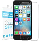 iPhone 6S Plus Screen Protector, Maxboost (3-Pack) Tempered Glass Screen Protectors for Apple iPhone 6s Plus/6 Plus Phone [HD Clarity] [Case Friendly] [Easy Install] (3 Pack)