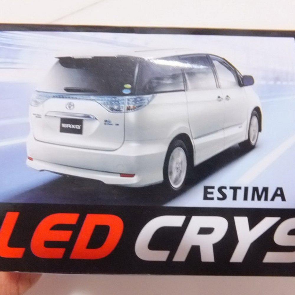 July King LED Brake Lights Crystal High-mount Stop Lamp for Alphard 10 Estima 30 2002-08