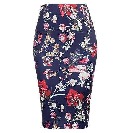 QZBTU Faldas Mujer Faldas De Mezclilla De Cintura Alta para Mujer ...