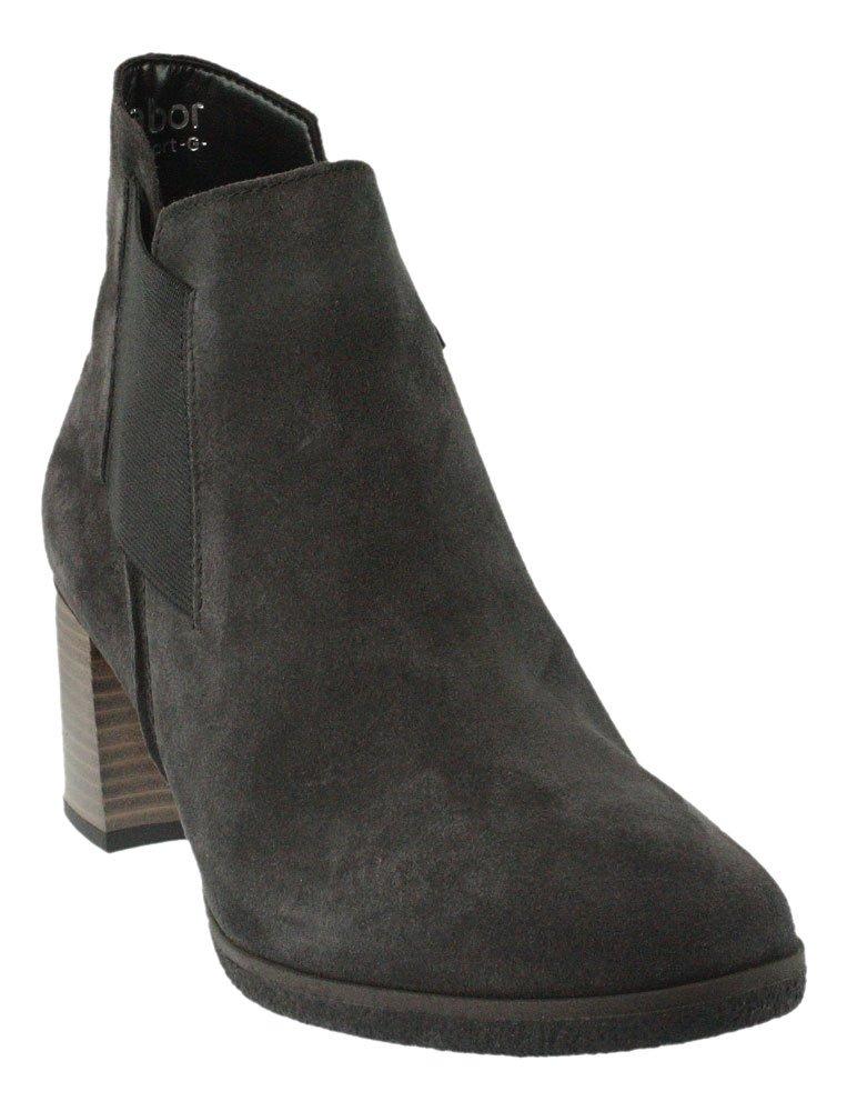 Gabor 72-830 Comfort Shoes - Botines de cuero mujer40 EU dark-grey (Micro)