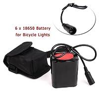 18650 Batterie pour Lampe à Vélo, 8.4V 7200mAh 6 x 18650 Rechargeable Batteries de Rechange Pour Conduit Bicycle Lumière