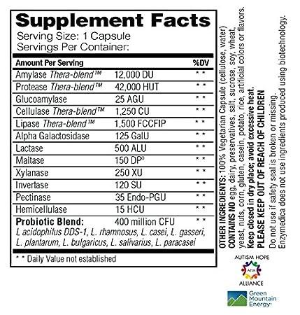 Amazon.com: Enzymedica – digerir + Probióticos, esencial ...