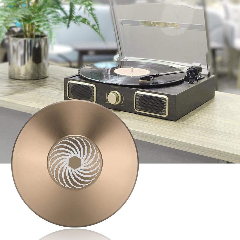 Durevole Disco per Dischi in Vinile Disco stabilizzatore Giradischi Morsetto in Alluminio Peso Topiky Morsetto per Dischi in Vinile Oro