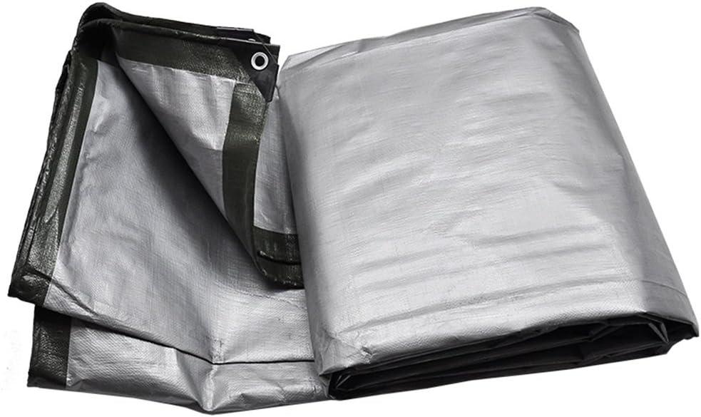 多目的防水ターポリンパーゴラ温室倉庫屋根車ポータブル小屋布 (Color : SILVER, Size : 6X10M)