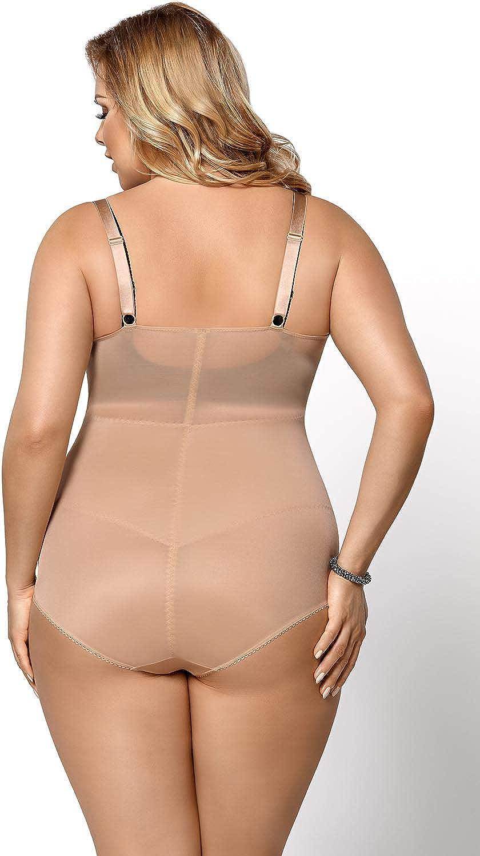 Gorsenia K148 Sanremo Elegante Body Moldeador Liso para Mujeres